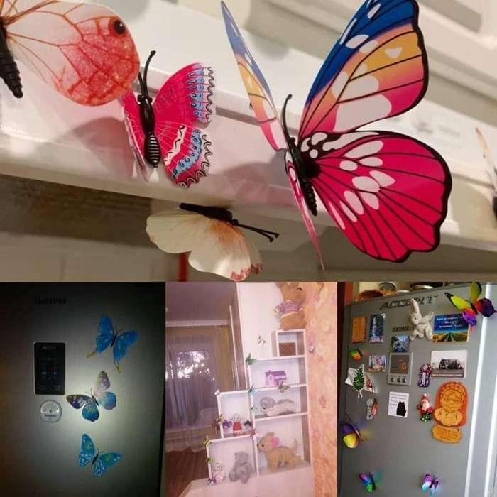 Mariposas Decorativas con imán o cinta doble faz.