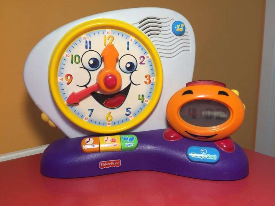 Fisher Price. Fun- learn RELOJ DE APRENDIZAJE. Habla en español. Impecable