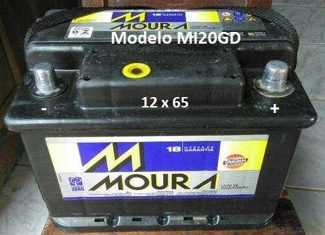 Bateria Moura MI20GD 12x65 en buen estado liquido