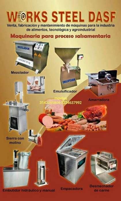mezclador emulsificador embutidor clipadora