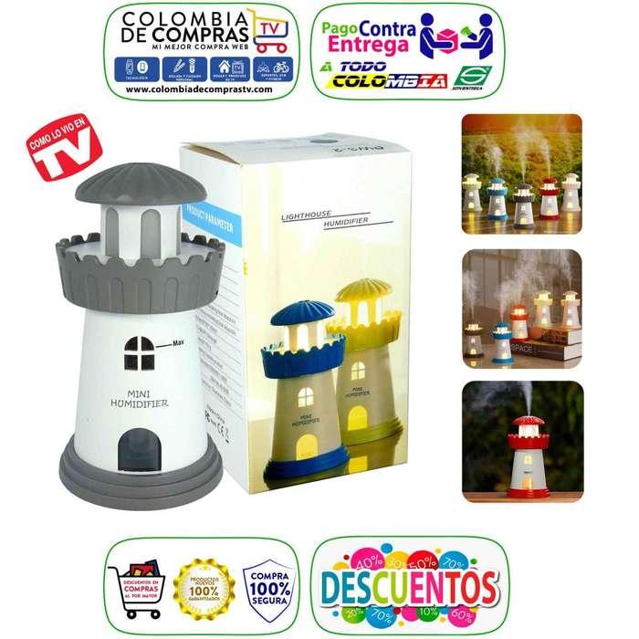 Difusor Aroma Faro Ambientador Luz Led Colors Aromatiza, Nuevos, Originales, Garantizados