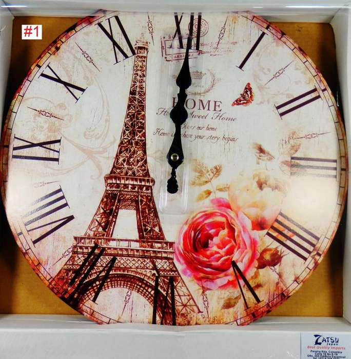 Zatsu Japan Relojes Vintage de Pared Diámetro 33 cm. cinco Motivos
