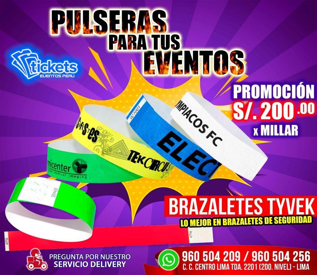 d38aafc7db14 SUPER OFERTA DE PULSERAS PARA EVENTOS S/. 200.00 X MILLAR - Lima