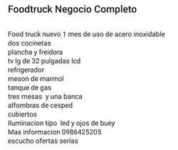 Foodtruck Negocio Completo