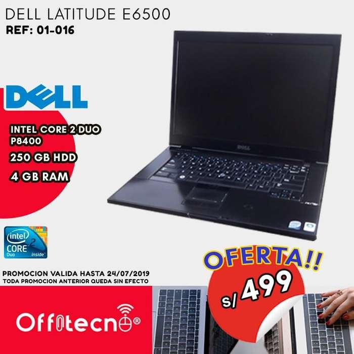 LAPTOP DELL LATITUDE E6500, INTEL CORE 2 DUO P8400, 4 GB DDR2, 250 GB HDD