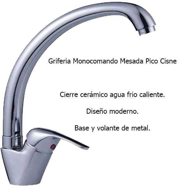 Griferia Monocomando Pico Bar.
