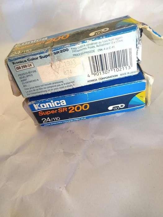 konica 2 rollos antiguo sin uso de camara de fotos