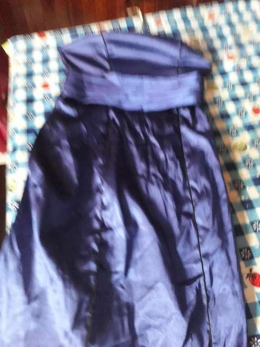 Vestido de Fiesta Razo Azul Vivos Negros