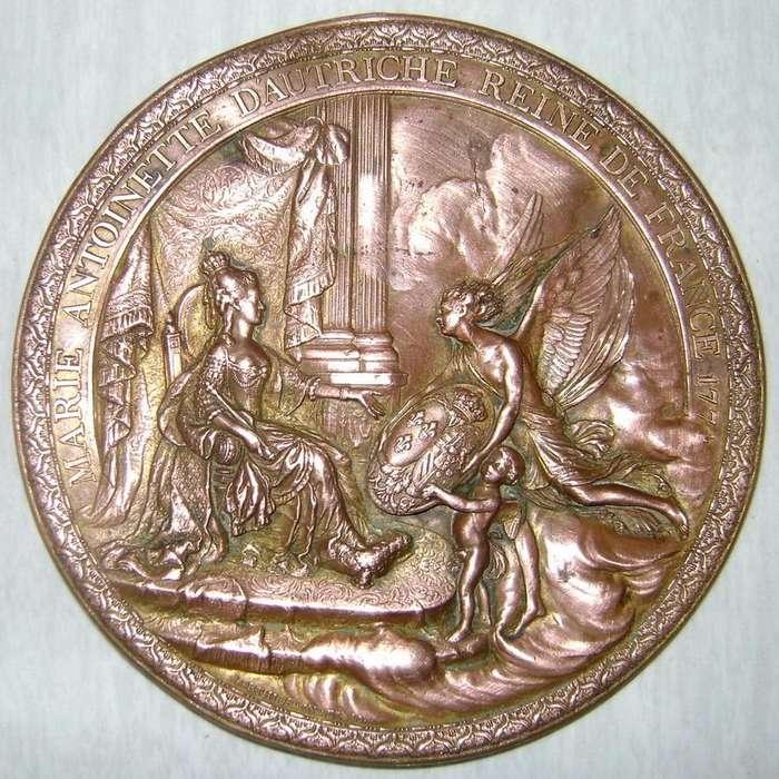 Medalla Medallón 1781 María Antonieta Trono Francés / Maxim Nord