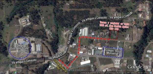 Terreno y contrucción, Barrio Monserrat Bajo Conocoto, 2600 m²