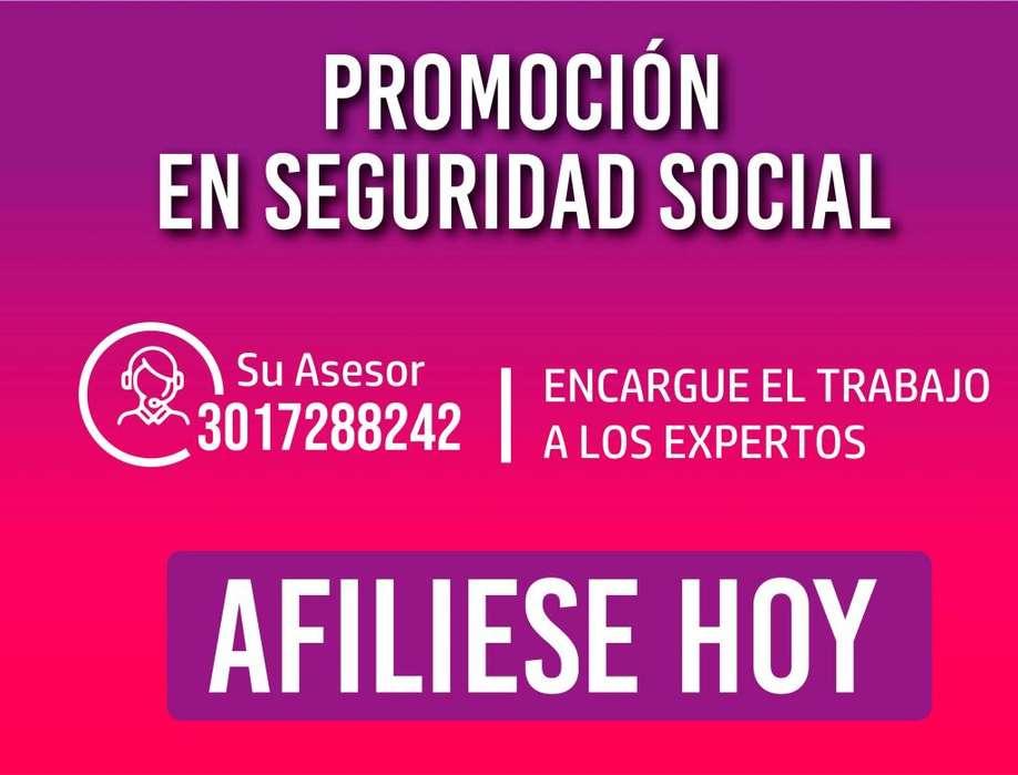Empresa legal - Cel: 3017288242 - Afiliacion sin pension. Afiliacion EPS y ARL Haga su afiliacion a Seguridad Social