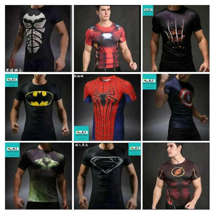 Camisetas Deportivas Superheróes