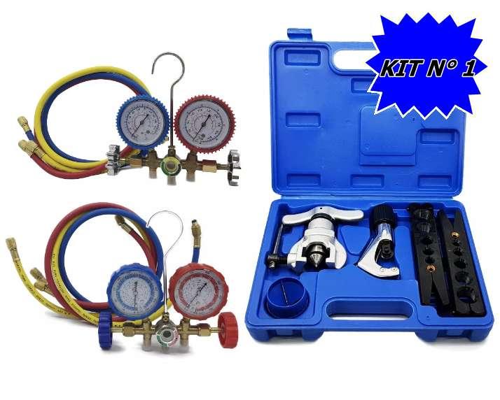 Kit Herramientas Refrigeracion Completo Manifold Pestañadora