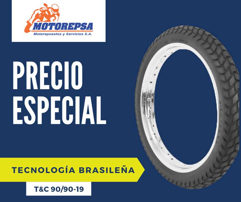 <strong>llanta</strong> TECHNIC LION TC 90/90 19 para Moto HONDA CG125 YAMAHA YBR y similares