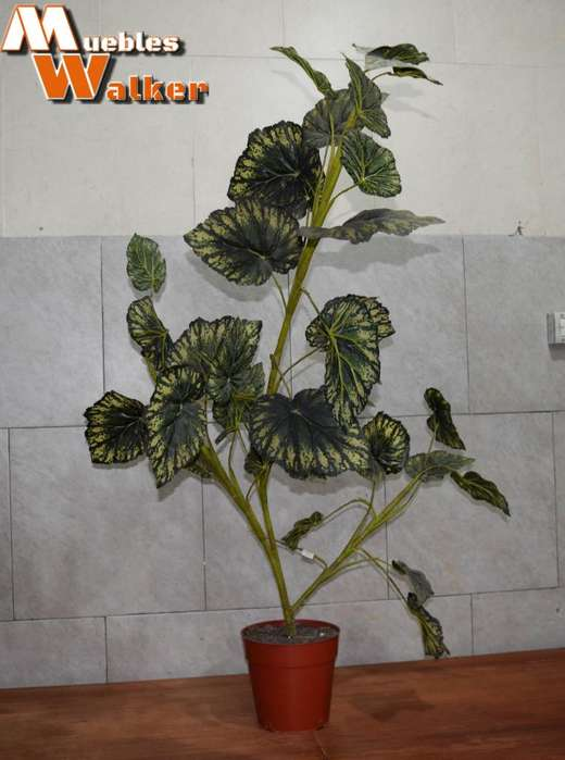 Planta artificial (1,25cm. alto) con maceta plástica