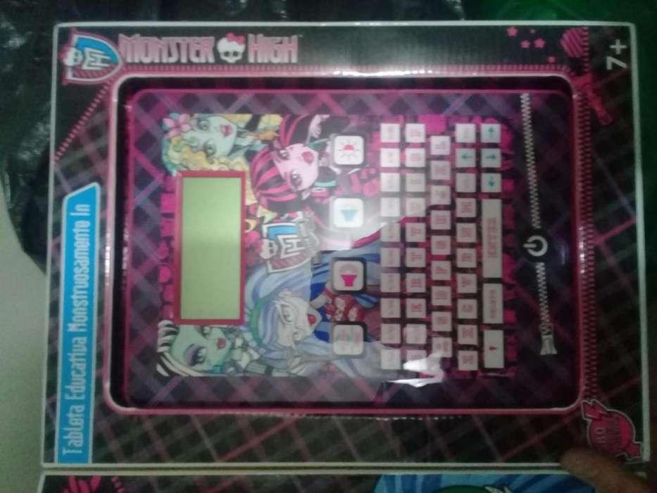Tablet monster high juguete nueva