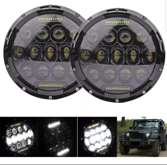 Farolas Led 7 Pulgadas Toyota Jeep Nissa