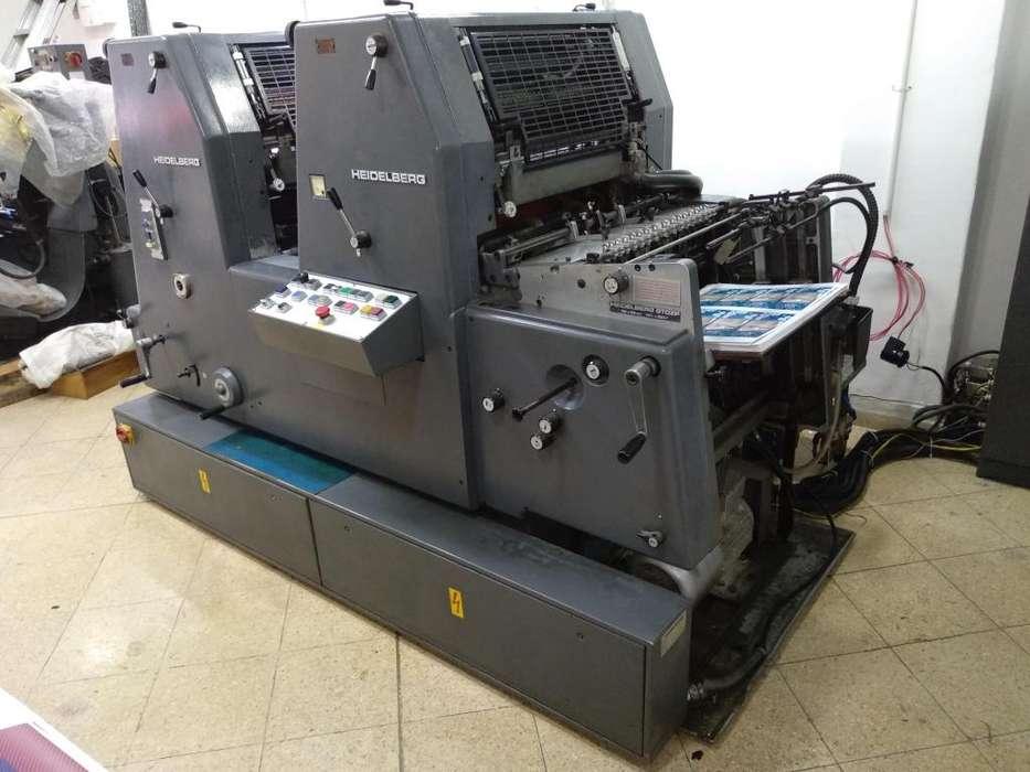 Se Vende: Máquina Impresora Bicolor Heidelberg GTOZP 52
