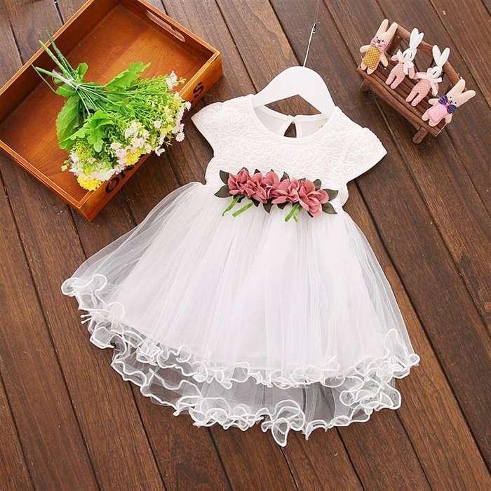 Vestido Niña Bebe Fiesta Centro Flores