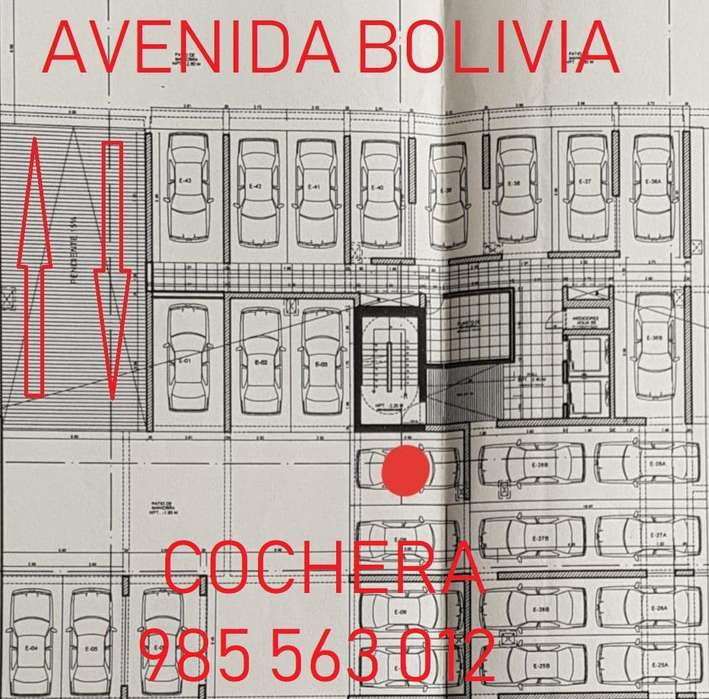 ALQUILO COCHERA TECHADA BREÑA