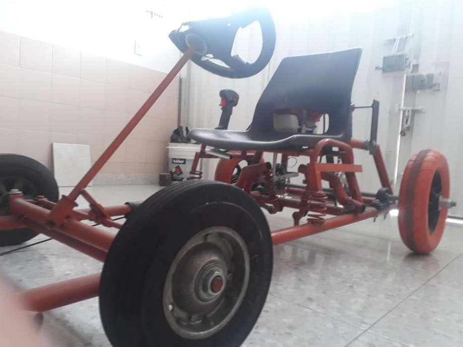 Go kart casero motor de 2 tiempos y freno