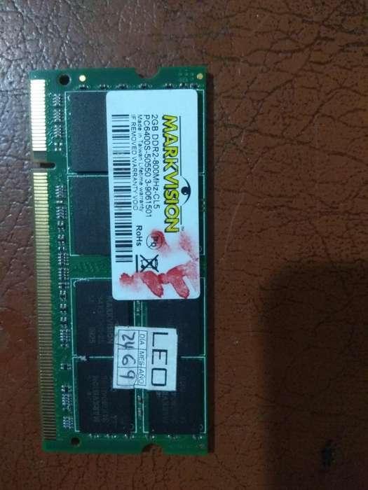Vendo memoria DDR2 PARA PORTATIL