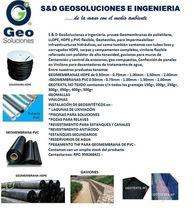 937683967 - GEOSINTETICOS :GEO MEMBRANA HDPE