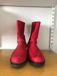 Botas de gamuza rojas Woodland Talle 40