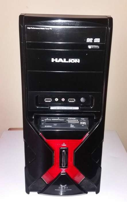 PC CASE o Gabinete HALION Mercury, ATX. 2 puertos USB. para placas INTEL y AMD. BUEN Estado. REMATE 39 Soles