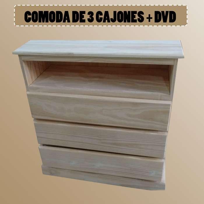 CAJONERA DE 3 CAJONES DVD