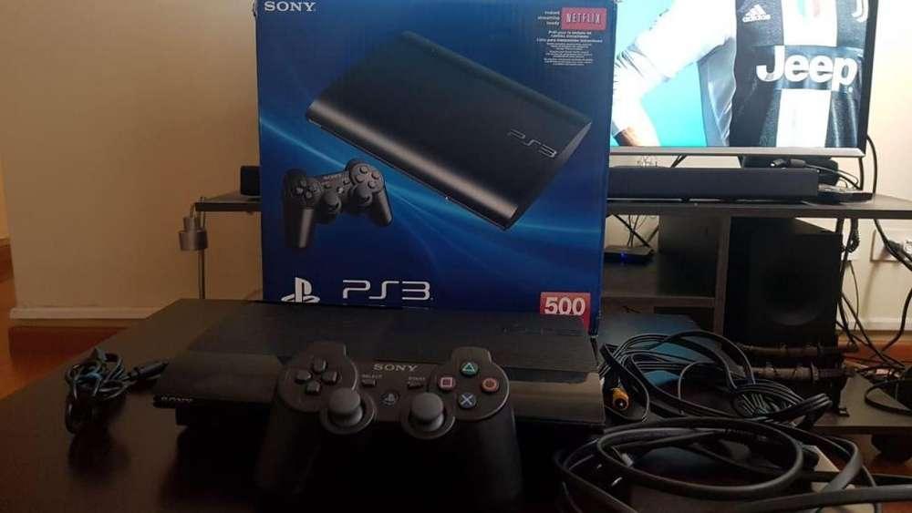 Playstation 3 Ps3 500GB Palanca, 20 juegos Todos sus cables caja Oferta