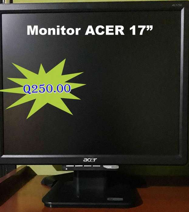 Monitores Acer y Dell 17