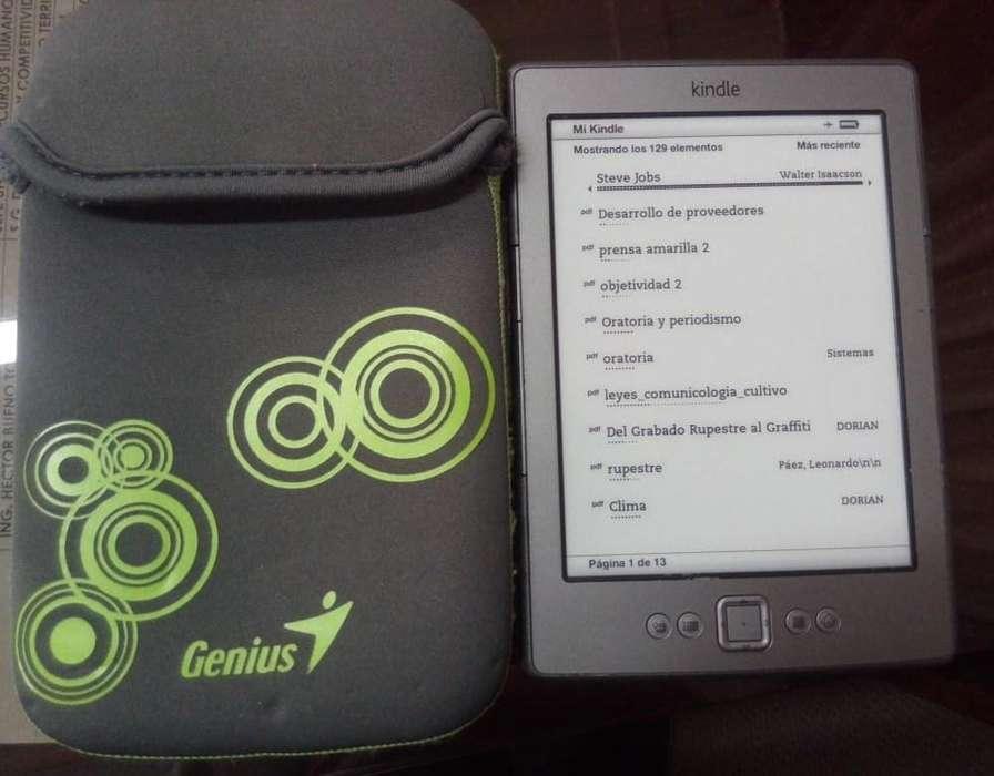 Kindle ebook, ereader, lector de libros electronicos, pantalla e-ink, no tablet, duracion bateria 1 mes