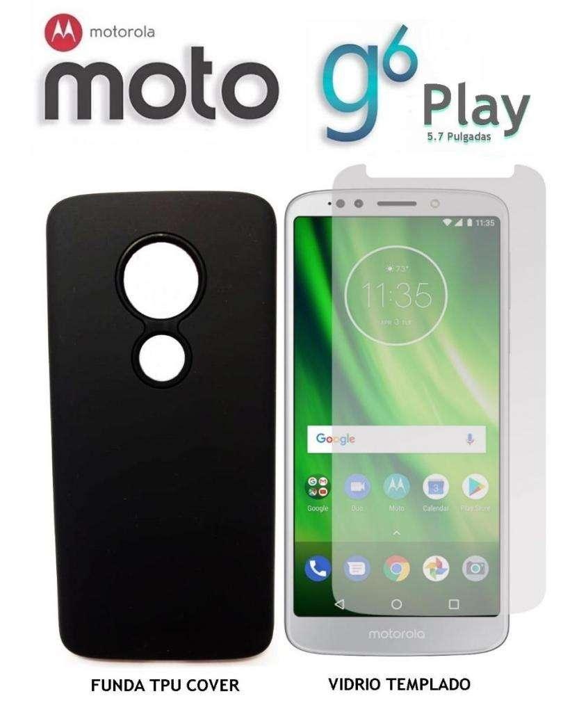 5b893e5a74b Funda Soft Rigida Vidrio Templado Motorola Moto G6 Play - Rosario