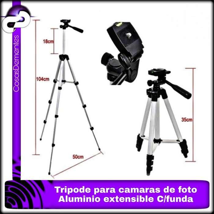 TRÍPODE ALUMINIO P CÁMARA FOTOS FILMA DE 1.02M CON BOLSO TF3110