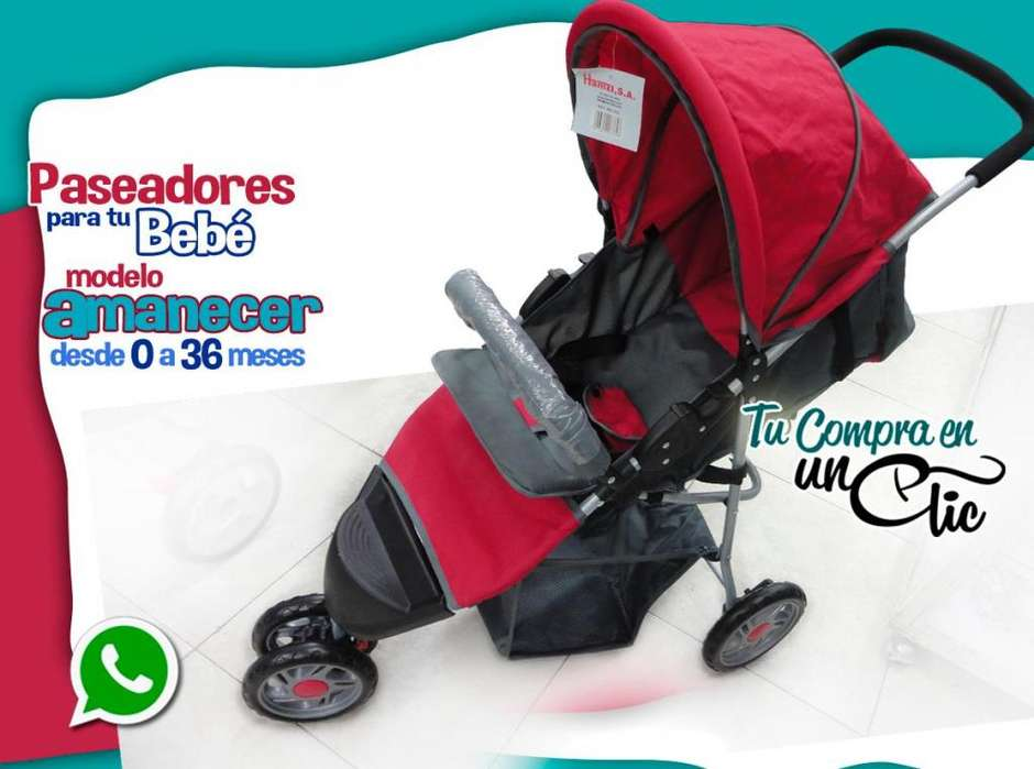 PASEADOR de Bebé 0 a 36 meses, muy Liviano, reclina acostadito,bello y cómodo NUEVOS