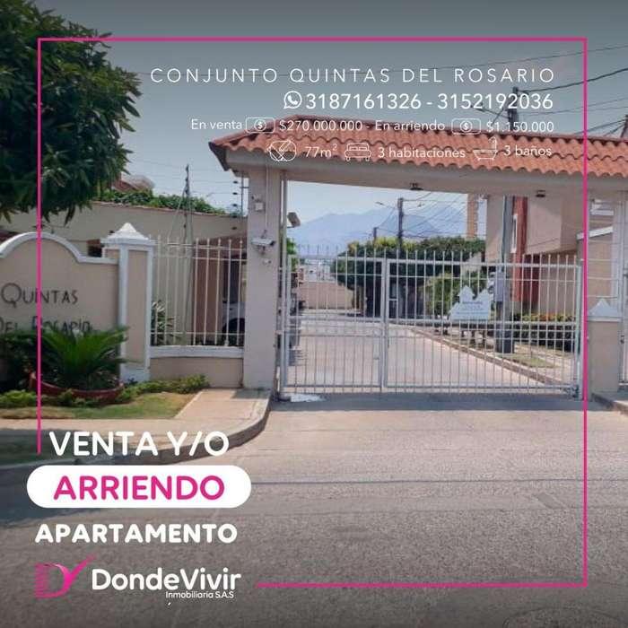 Hermoso <strong>apartamento</strong> Conj. Quintas del Rosario. Arriendo