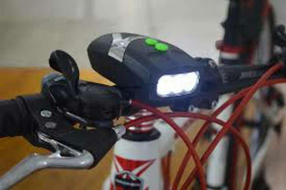Luz Led Bicicleta con Bocina Tipo Alarma