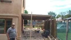 Techos de tejas, de chapas y pérgolas. Construcción y reparación