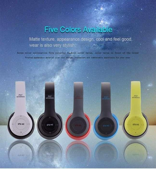 Auriculares <strong>bluetooth</strong> P47, Manos Libres, Reproductor de Música, Tarjeta SD, FM Radio Mp3 Player