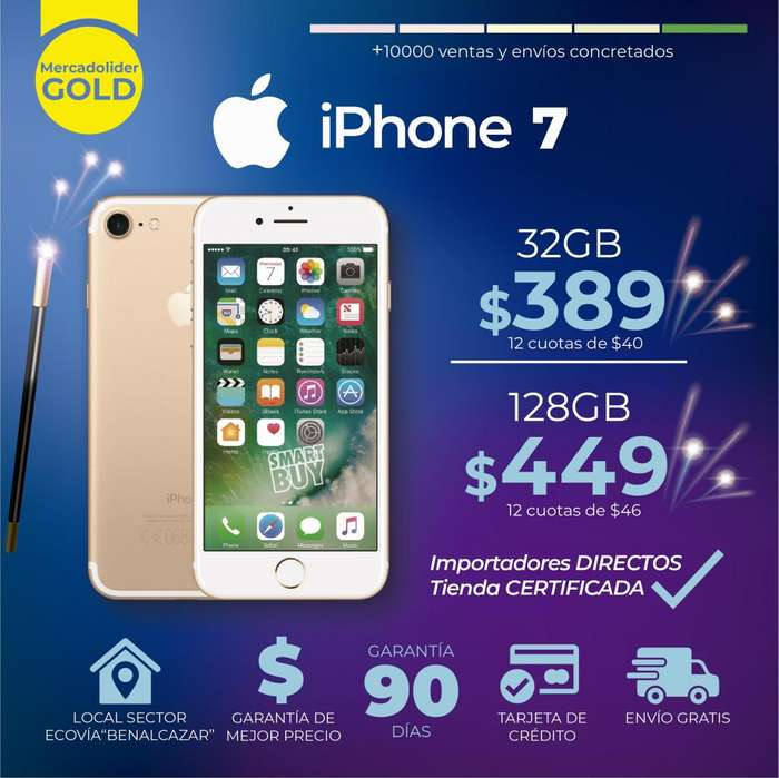 IPHONE 5s. 6. 6s. 7. PLUS 16gb 32 64gb 128gb Con GARANTIA y OBSEQUIO Aceptamos Tarjeta