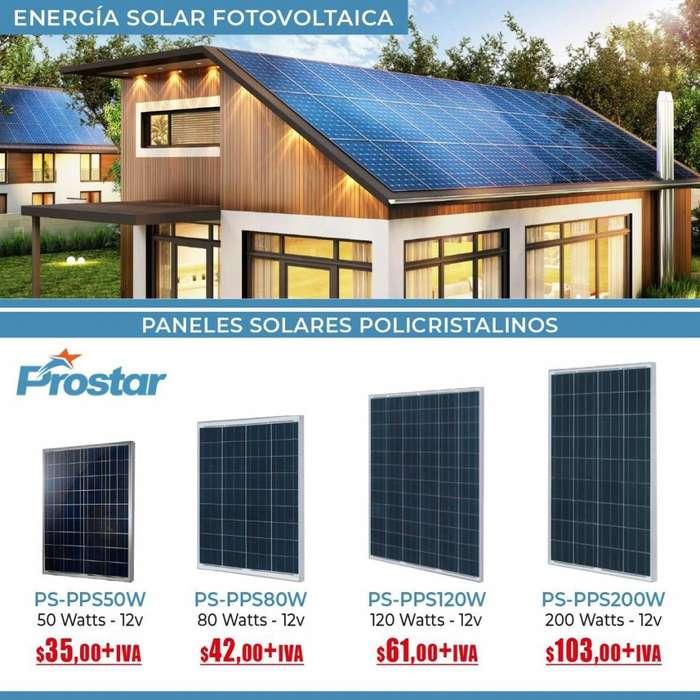 PANELES SOLARES POLICRISTALINOS /ENERGIA SOLAR /PANALES AHORRO DE ENERGIA / PANELS PARA HOGAR