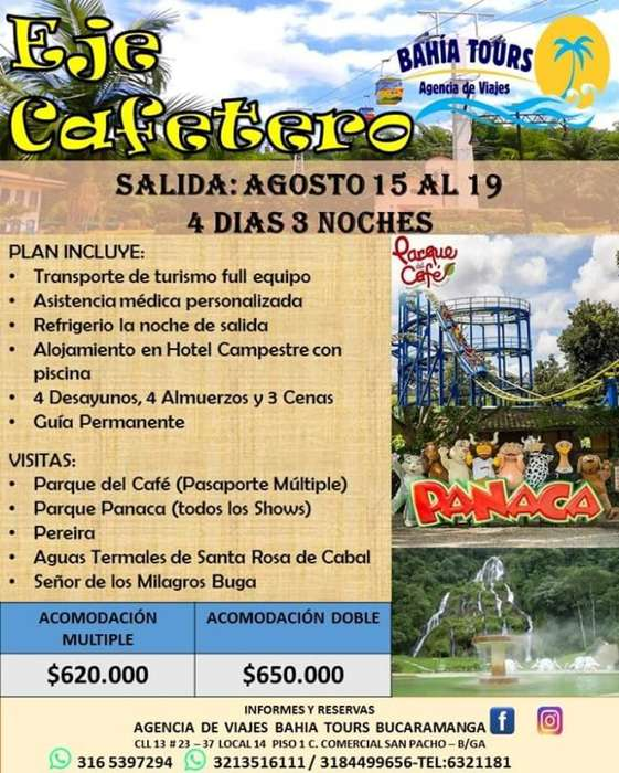 Tour Guajira O Eje Cafetero