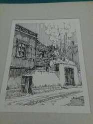 Dibujos con Pluma y tinta . Barracas y La Boca 1978 Federico Fernandez Larrain