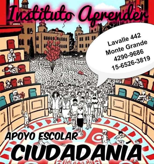 Apoyo escolar de Ciudadania en Monte Grande