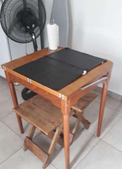 Mesa Plegable Madera Exc. Estado