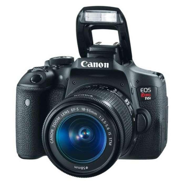 Camara Canon Rebel T6i Kit Lente 18-55