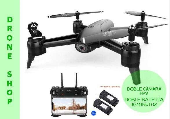 Dron Drone D106 Doble Cámara de720p sensor de altura, FOLLOW ME batería 22 minutos de vuelo