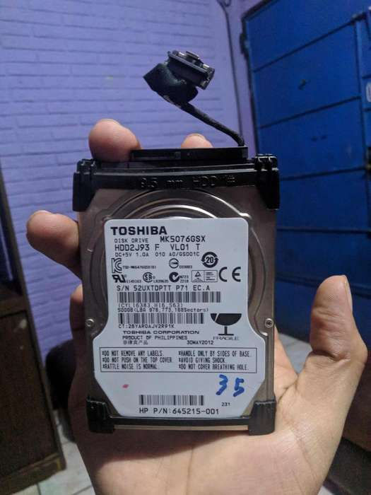 Vendo Disco Duro de 500gb