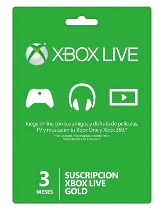 Membrecias Xbox Live 3 Meses